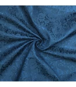 Bomullsbrokade blå